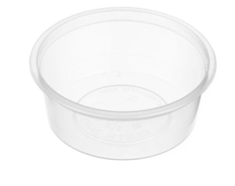 Small Round Clear Plastic 70ml Sauce Container 80mm Diameter - SLEEVE=50 / BOX=1,000