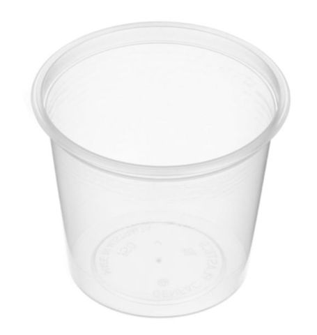 Small Round Clear Plastic 150ml Sauce Container 80mm Diameter - SLEEVE=50 / BOX=1,000