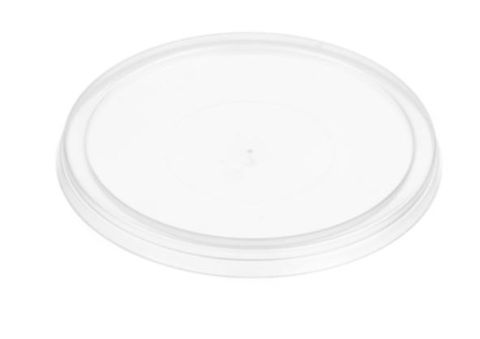 Small Round Clear Plastic Sauce Container Lid 80mm Diameter - SLEEVE=100 / BOX=1,000