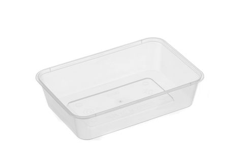 Large Rectangle Clear Premium Takeaway Containers 500ml Microwave Grade (G500) - SLEEVE=50 / BOX=500