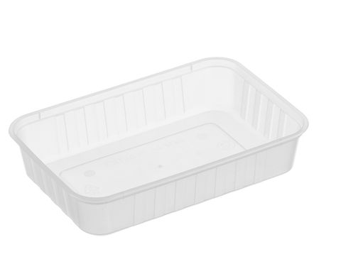 Large Rectangle Frosted Premium Takeaway Containers 500ml Freezer Grade (REB500) - SLEEVE=50 / BOX=500