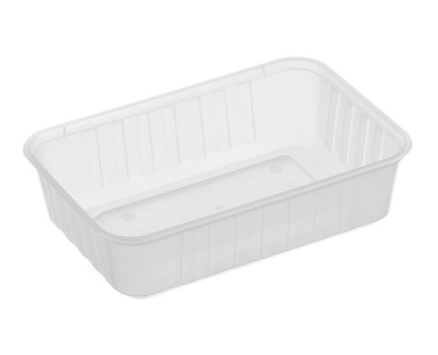 Large Rectangle Frosted Premium Takeaway Containers 650ml Freezer Grade (REB650) - SLEEVE=50 / BOX=500