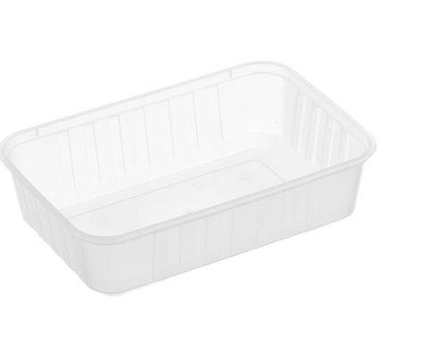 Large Rectangle Frosted Premium Takeaway Containers 750ml Freezer Grade (REB750) - SLEEVE=50 / BOX=500