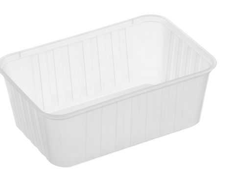 Large Rectangle Frosted Premium Takeaway Containers 1,000ml Freezer Grade (REB1000) - SLEEVE=50 / BOX=500