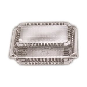 Clear Plastic Premium Small Rectangle Clam Hinge Container 163mm(L) x 234mm(W) x 35mm(H) (SP2) - SLEEVE=125 / BOX=500