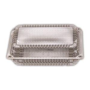 Clear Plastic Premium Medium Rectangle Clam Hinge Container 193mm(L) x 240mm(W) x 35mm(H) (SP3) - SLEEVE=125/ BOX=500