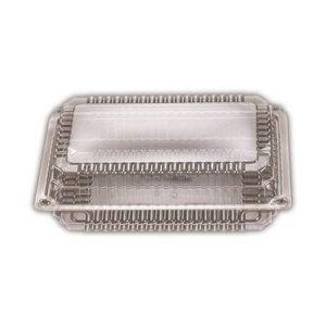 Clear Plastic Premium Super Rectangle Clam Hinge Container 229mm(L) x 286mm(W) x 35mm(H) (SP4) - Box of 200
