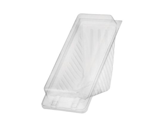 Clear Plastic Medium 2 Point Sandwich Wedge Container 140mm(L) x 55mm(W) x 65mm(H) - SLEEVE=100 / BOX=500