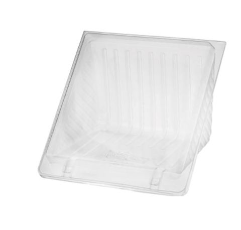 Clear Plastic 4 Point Sandwich Wedge Container 125mm(L) x 110mm(W) x 50mm(H) - SLEEVE=100 / BOX=500