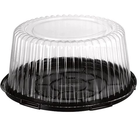 Clear Premium Cake Dome and Black Base 100mm(W) x 216mm(H) - Box of 50
