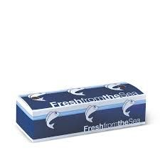 Detpak Printed Small Cardboard Fish and Chip Boxes - 245mm(L) x 90mm(W) x 63mm(W) - Box of 500