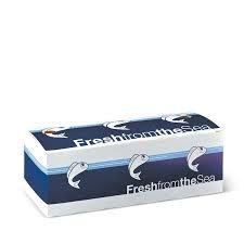Detpak Printed Medium Cardboard Fish and Chip Boxes - 245mm(L) x 95mm(W) x 85mm(W) - Box of 400
