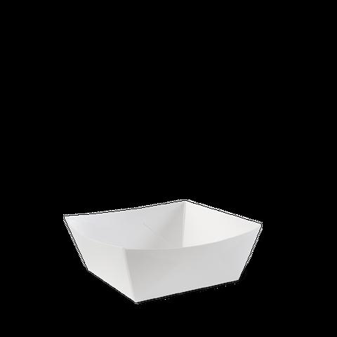 Detpak White Square Dog Food Tray 95mm(L) x 95mm(W) x 50mm(H) -  Box of 500
