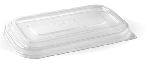 BioPak PET. Take Away Clear Lids for 750ml & 1,000ml Rectangular Containers - SLEEVE=50 / BOX=500
