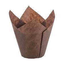Brown Paper Muffin Tulip Liners Moulds 60mm Base - PACK=200 / BOX=5,000