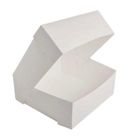 "White Pastry / Cake Box 7"" x 7"" x 3"" / 175mm(L) x 175mm(W) x 75mm(H) - Packet of 50"