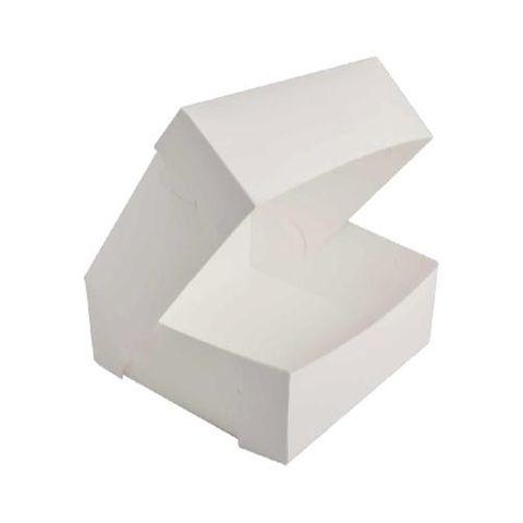 "White Pastry / Cake Box 6"" x 6"" x 4"" / 150mm(L) x 150mm(W) x 100mm(H) - Packet of 100"