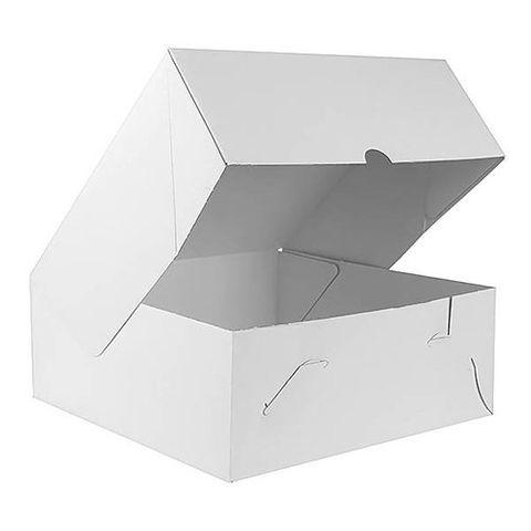"White Pastry / Cake Box 7"" x 7"" x 4"" / 175mm(L) x 175mm(W) x 100mm(H) - Packet of 50"
