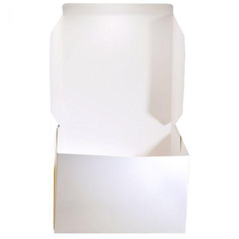 "White Pastry / Cake Box 8"" x 8"" x 4"" / 200mm(L) x 200mm(W) x 100mm(H) - Packet of 100"