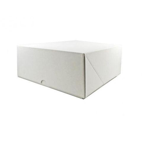 "White Pastry / Cake Box 10"" x 10"" x 4"" / 250mm(L) x 250mm(W) x 100mm(H) - Packet of 50"