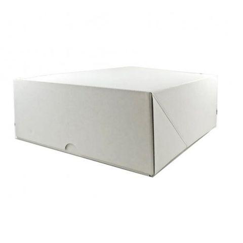 "White Pastry / Cake Box 10"" x 10"" x 6"" / 250mm(L) x 250mm(W) x 150mm(H) - Packet of 50"