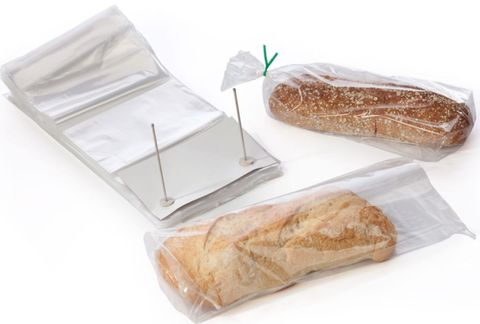 Wicketed Bread Bag Clear Plastic Bags 250mm(W) x 430mm(L) - Box of 2,000