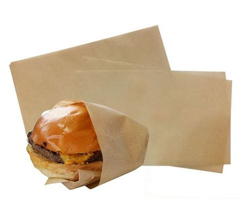 Brown / Natural Lunchwrap Greaseproof Paper 3 Cut 220mm(W) x 440mm(L) - Packet of 1,200