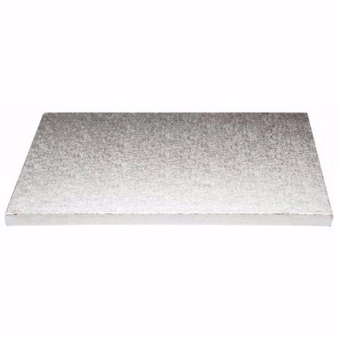 Heavy Duty Rectangular Masonite Foil Cake Boards 400m(L) 400mm(W) x 6mm(H) - Packet of 10