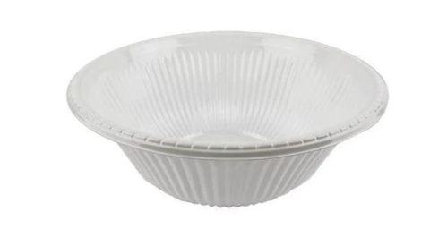 Plastic Serving Bowl 18cm Wide Black/White/Clear - Each