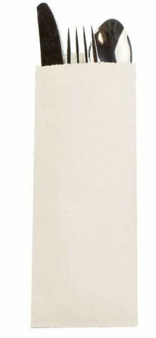 Cutlery Pouch White Cardboard - Box of 1,000