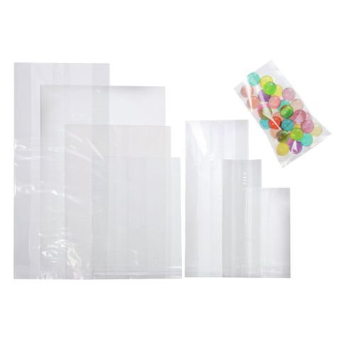 Clear Polypropylene Cello Bags 355mm x 510mm x 30um Cello Bags - Packet of 100