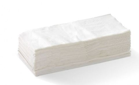 White 1Ply Ready 1/8 Fold GT Luncheon Serviettes 320mm x 320mm - Box of 3,000