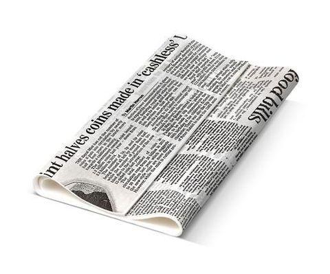 Detpak Italian News Print Deli Large Fresh Wrap 400mm(L) x 330mm(W) - Box of 1,500