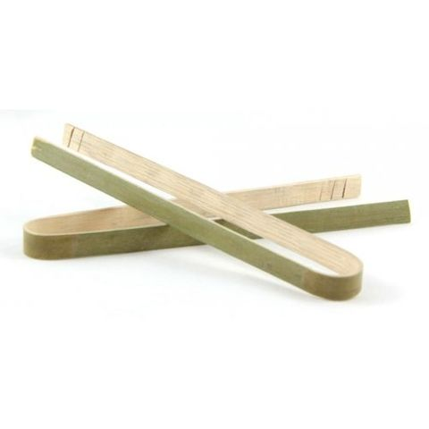 Bamboo Tongs 100mm - Packet of 8