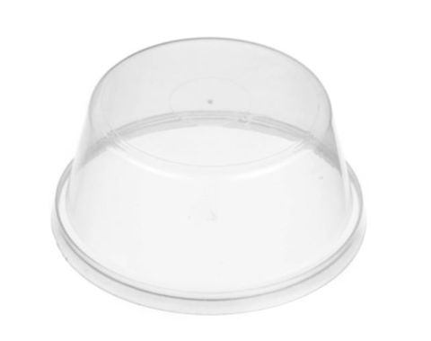 Genfac 80mm Round Dome Container Lids - Box of 1,000