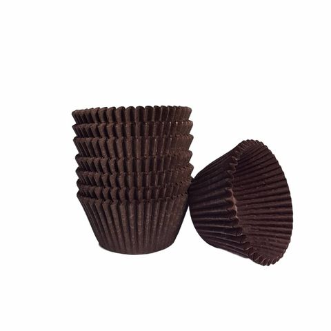 Brown 340 Confectionary Cup / Patty Pan 24mm Wide x 17mm(H) - Pack of 500