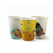 BioPak 12oz / 360ml Single Wall Art Series Coffee Cups 80mm Diameter - Box of 1,000