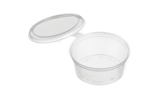 Sauce Containers 35ml with Attached Hinged Lids - SLEEVE=50 / BOX=1,000