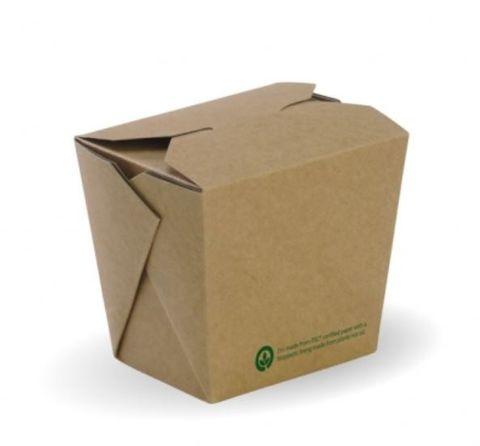 BioPak 16oz / 480ml Bio Board Brown Noodle Bowl - Box of 500