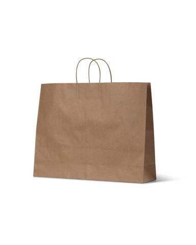 Medium Brown Loop Handle Paper Carry Bags 400mm(L) x 450mm(W) + 160mm(G) - Box of 250