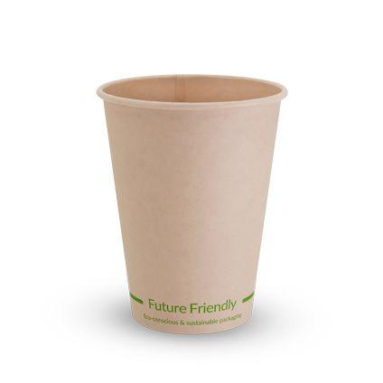 Future Friendly Bamboo 12oz / 360ml / Single Wall Uni Lid Hot Cup + PLA Lining 90mm Rim - SLEEVE=50 / BOX=1,000