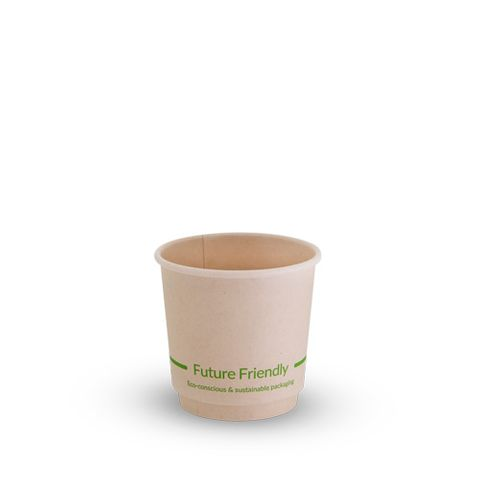Future Friendly 4oz / 120ml Bamboo Double Wall Hot Cup with PLA Lining 62mm Rim - SLEEVE=25 / BOX=500
