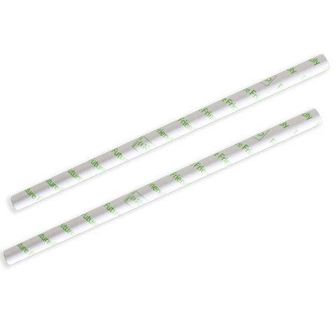Future Friendly White 3 Ply Thickshake Paper Straws Printed - SLEEVE=250 / BOX=2,500