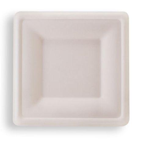 "Future Friendly 6"" Square Sugarcane Plate - SLEEVE=50 / BOX=500"