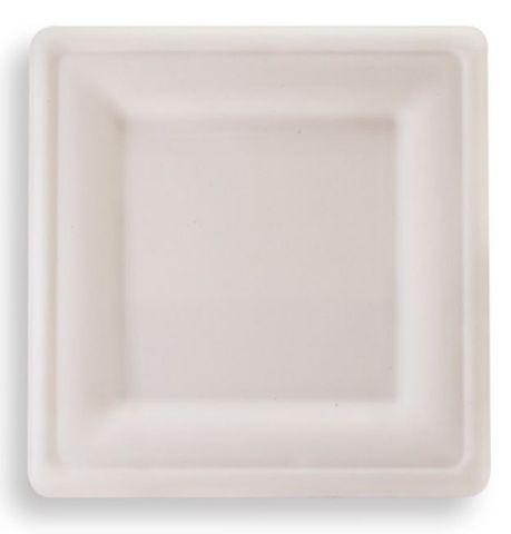 "Future Friendly 8"" Square Sugarcane Plate - SLEEVE=50 / BOX=500"