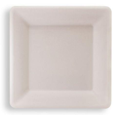 "Future Friendly 10"" Square Sugarcane Plate - SLEEVE=50 / BOX=500"
