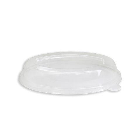 Future Friendly 18oz Burrito Dome Oval PET Lid (L066) - Box of 300