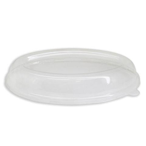 Future Friendly 24oz Burrito Dome Oval PET Lid (L065) - Box of 300