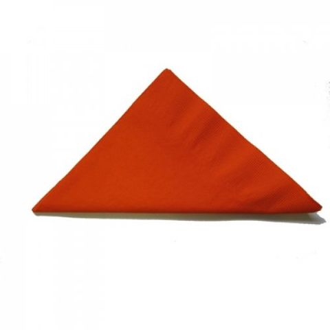 Orange 2 Ply Dinner Serviettes 1/4 Fold 400mm x 400mm - Box of 1,000