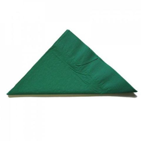 Pine Green 2 Ply Dinner Serviettes 1/4 Fold 400mm x 400mm - Box of 1,000